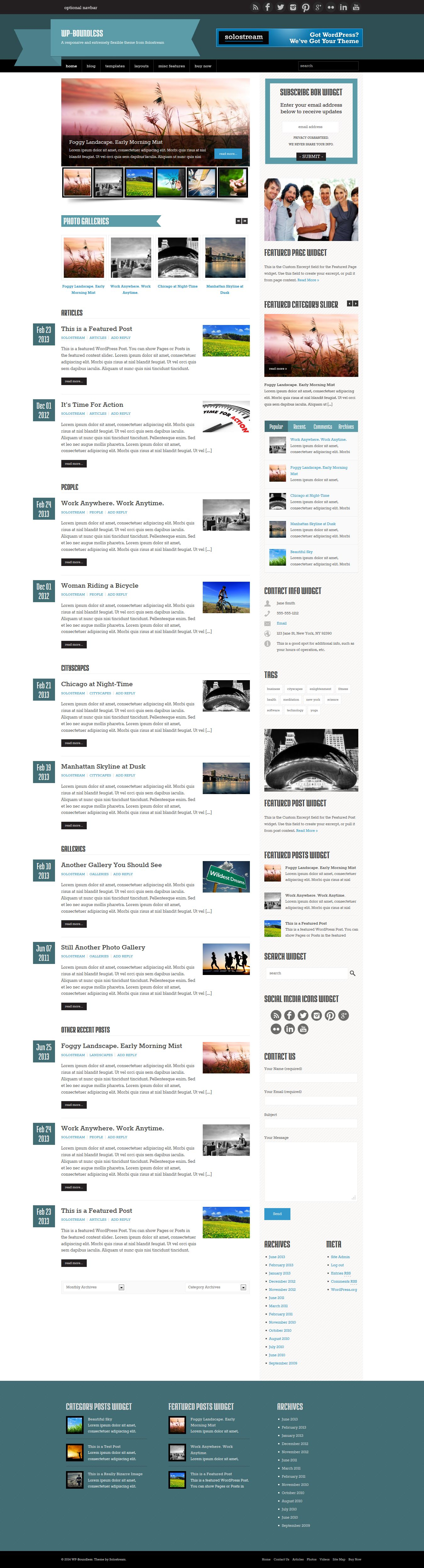 WP Boundless Magazine Blog Theme