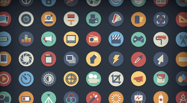 192 Free Circle Icons for Media Add-on
