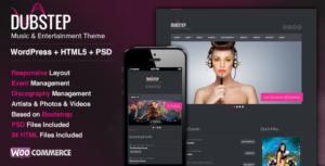 Dubstep Theme for Bands, Musicians, DJs, Clubs & Entertainment