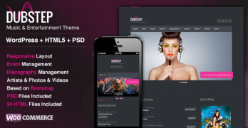 Dubstep WordPress Musicians Theme