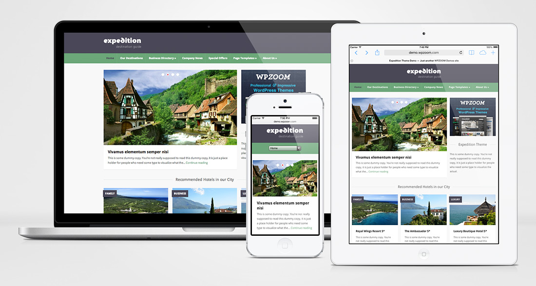 Expedition Responsive WordPress City Directory Theme