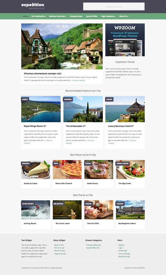 Expedition WordPress Travel Agency Theme