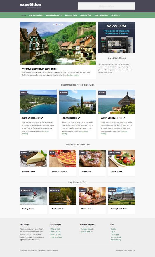 Expedition WordPress Travel Agency Theme