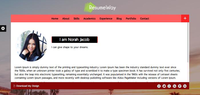 ResumeWay Business WordPress Theme For Architect