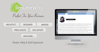 ResumeWay One Page Portfolio WordPress theme