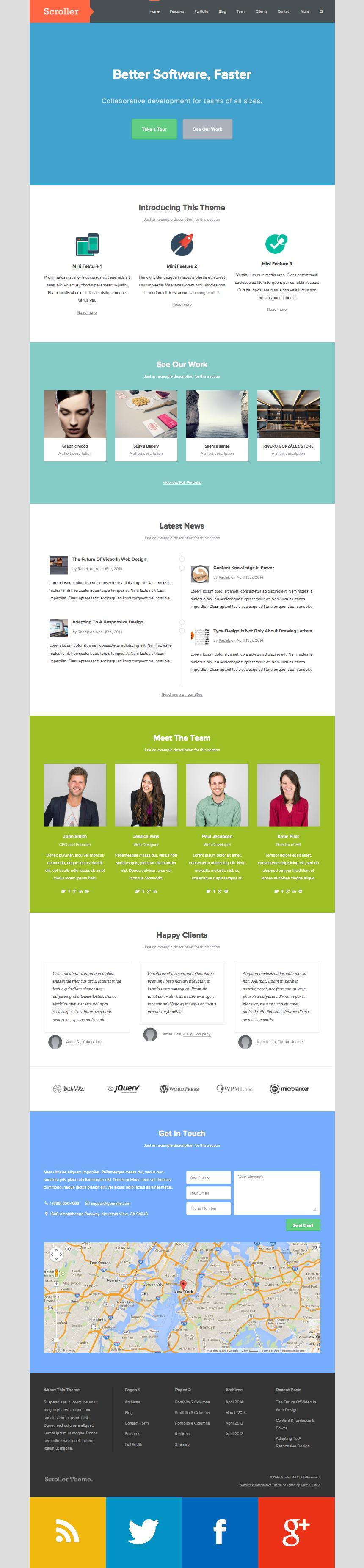 Scroller WordPress Showcase Portfolio Theme