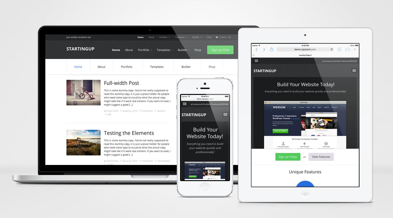 StartingUp Responsive WordPress Multipurpose Theme