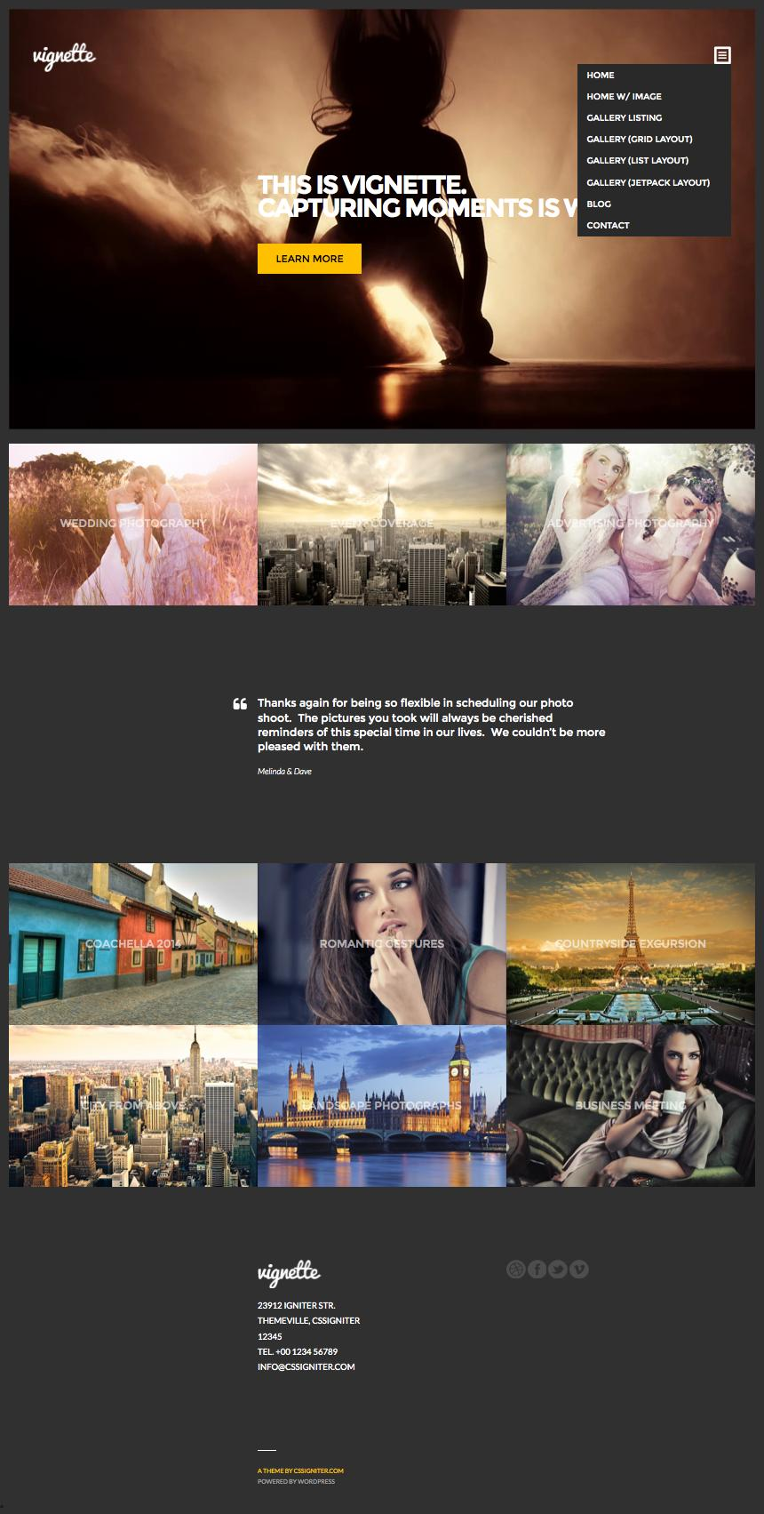 Vignette – Personal Models, Photography Industry / Video Theme