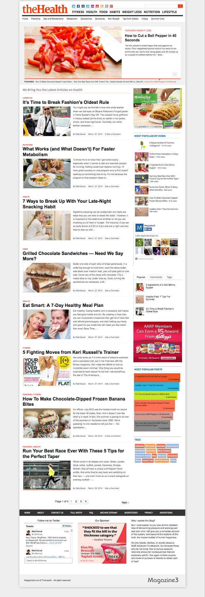 BlogPress WordPress Health Blog Theme