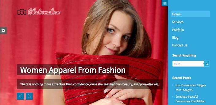 PhotoMaker WordPress Responsive Photography Theme