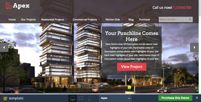 Apex WordPress Construction Company Theme