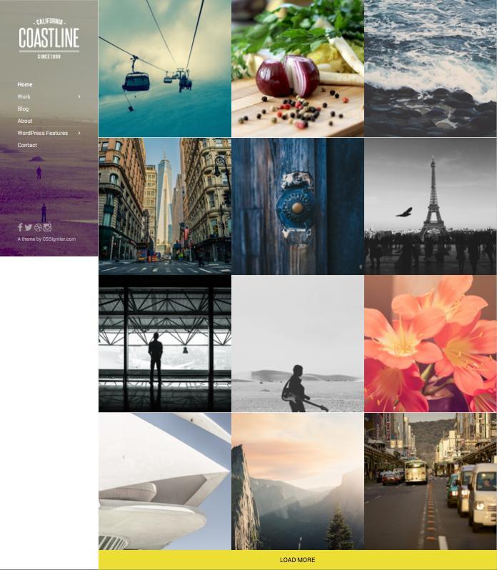 Coastline WordPress Creative Bloggers Theme