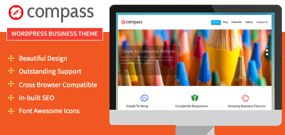 Compass WordPress Animation Effect Theme