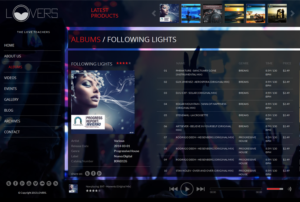 Lovers – Music Player Theme with HTML & Flash Support