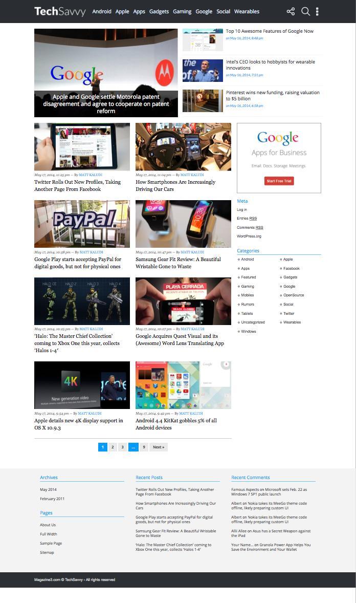 TechSavvy WordPress Tech & Gadget Blog Theme