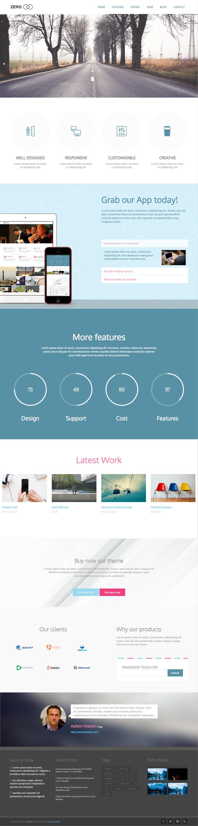 Zero WordPress Creative Agency Theme