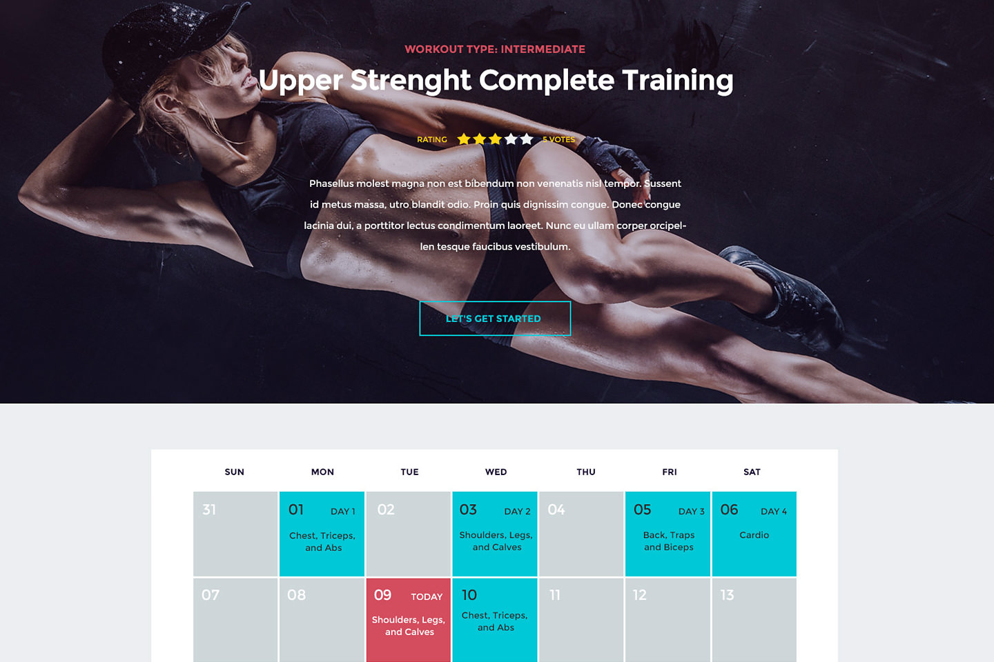 In Shape WordPress Fitness Theme