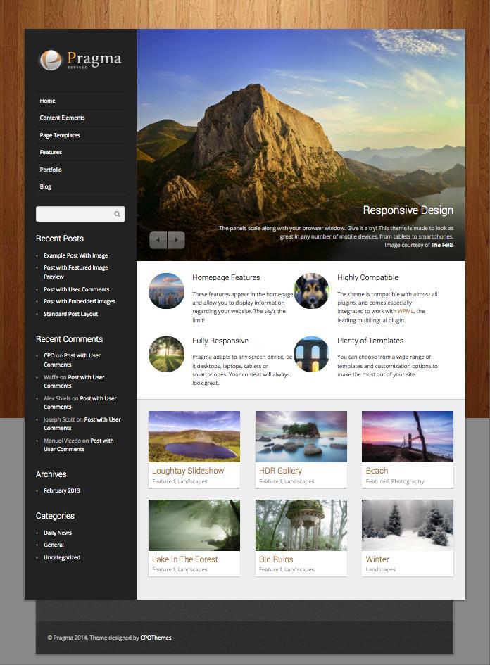 Pragma WordPress Theme for Showcase Portfolio & Multimedia