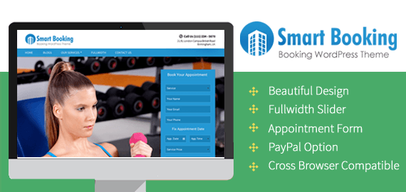 SmartBooking Theme for Yoga, Spa, Gym, Doctors & Dog Trainers