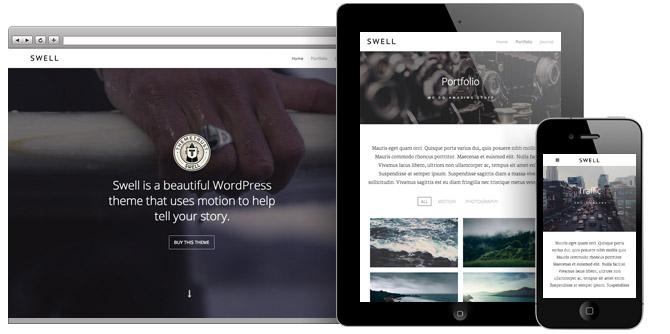 Swell WordPress Responsive Background Video Theme