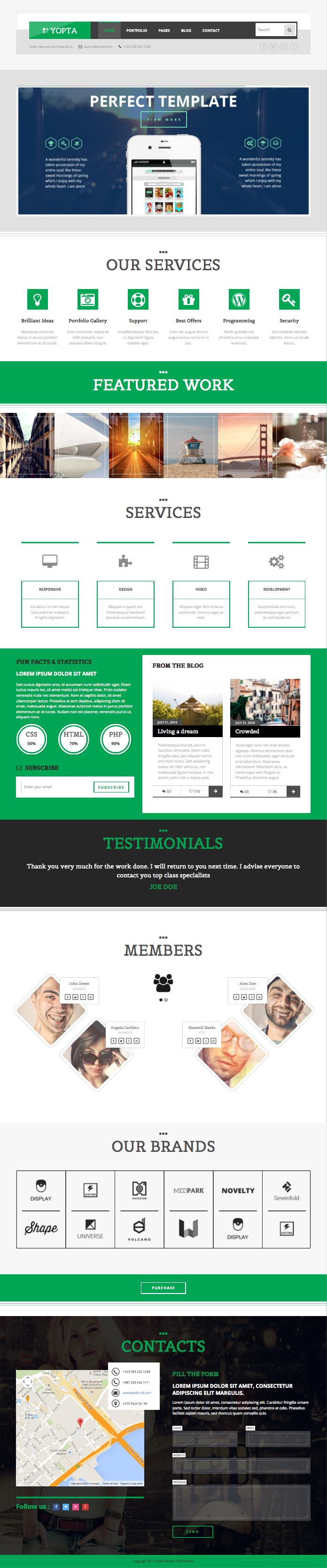 Yopta WordPress Business Portfolio Theme