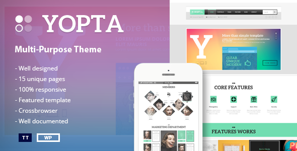 Yopta WordPress Creative Business Theme