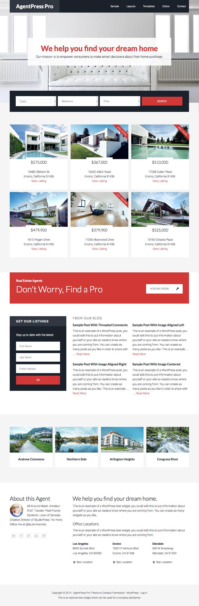 AgentPress Pro WordPress Real Estate Theme