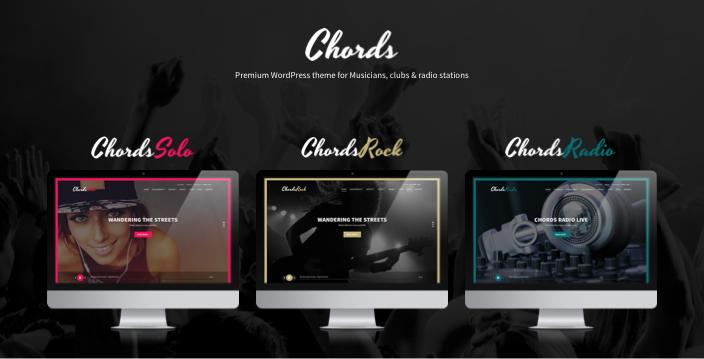 Chords WordPress Theme for Solo Radio Rock