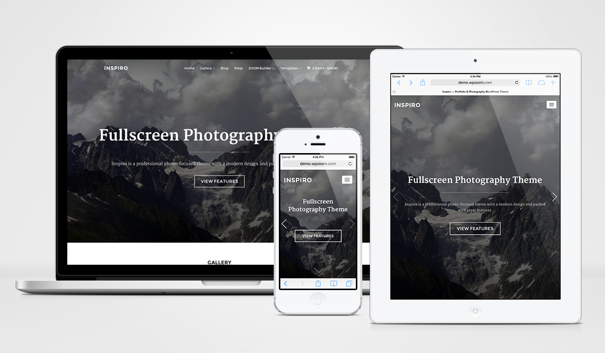 Inspiro WordPress Photo-focused Theme
