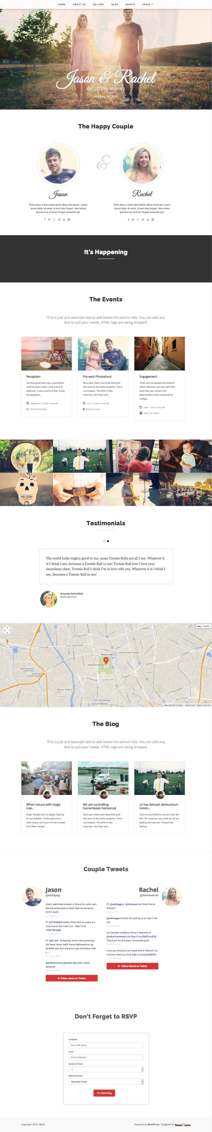 Merit Responsive WordPress Marriage Theme