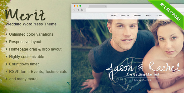 Merit Responsive WordPress Wedding Theme