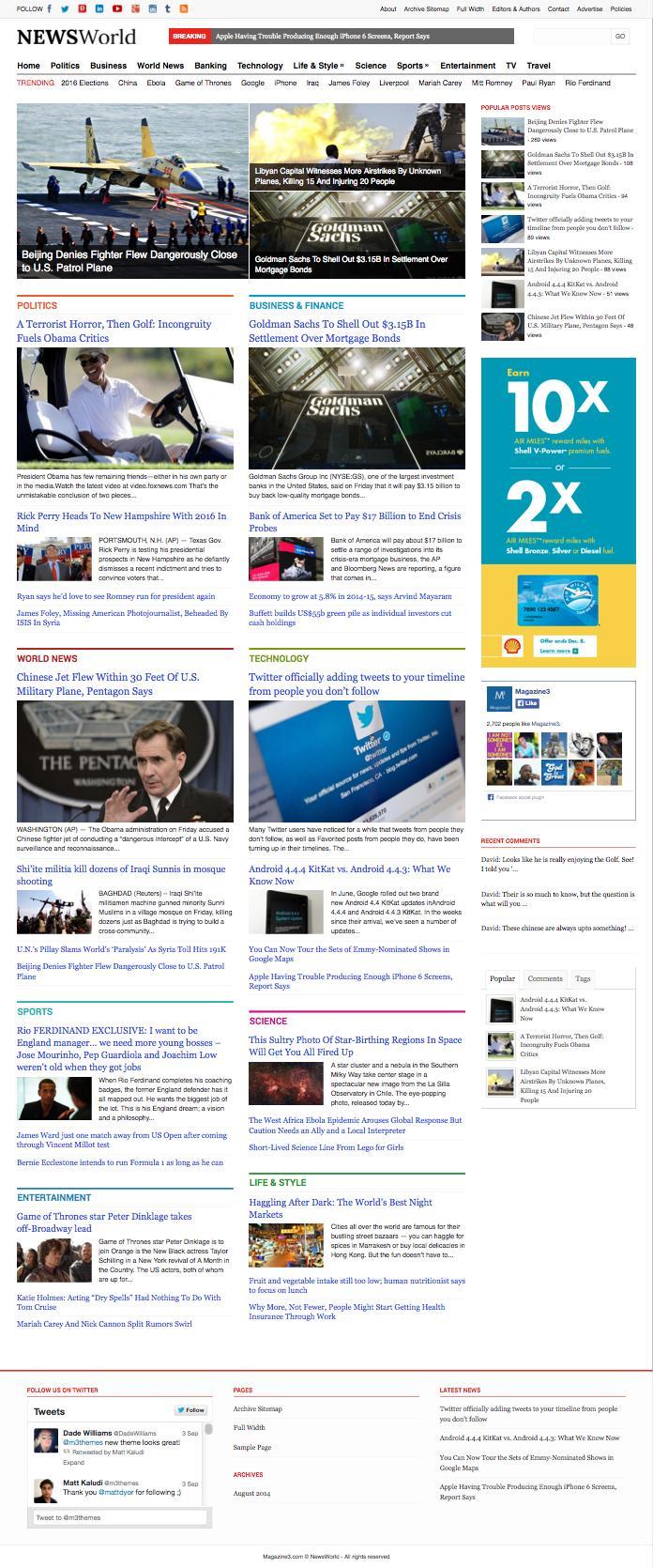 NewsWorld Responsive WordPress Magazine Theme