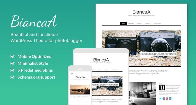 BiancaA WordPress Photo Bloggers Theme
