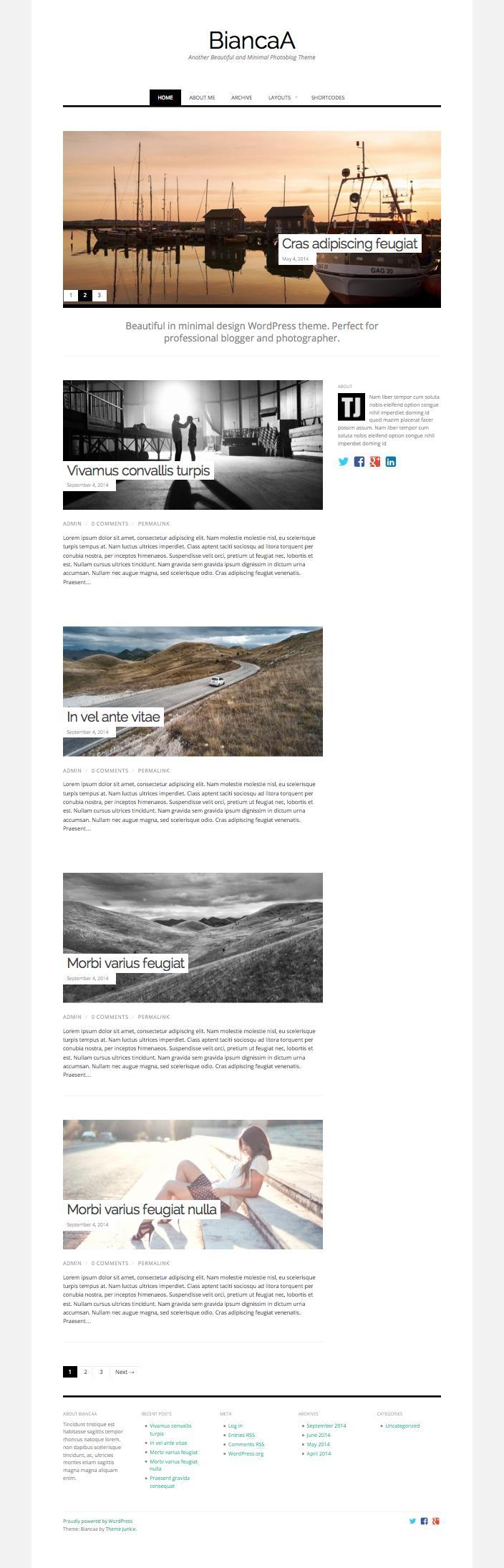 BiancaA WordPress Professional Photography Theme