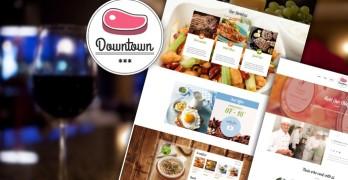 Downtown WordPress Restaurant Theme