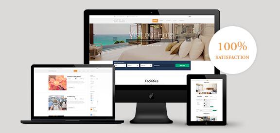 Hotelia Responsive WordPress Motel Theme