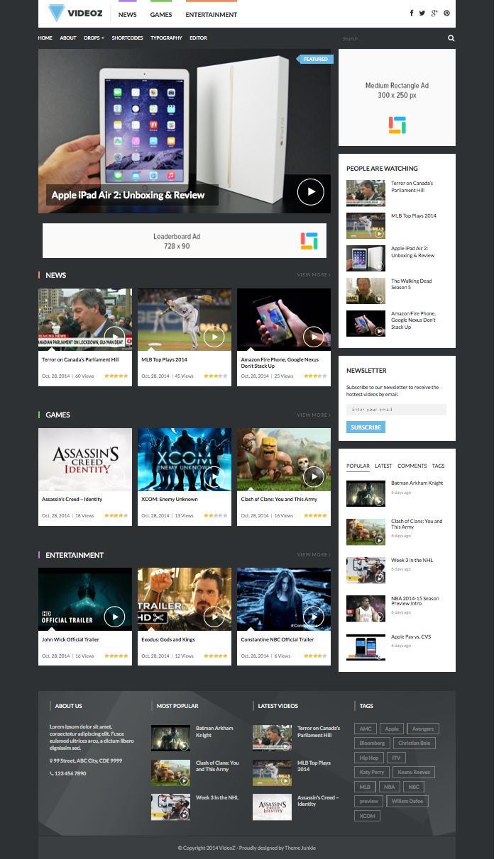 VideoZ WordPress Video Podcast Review Theme