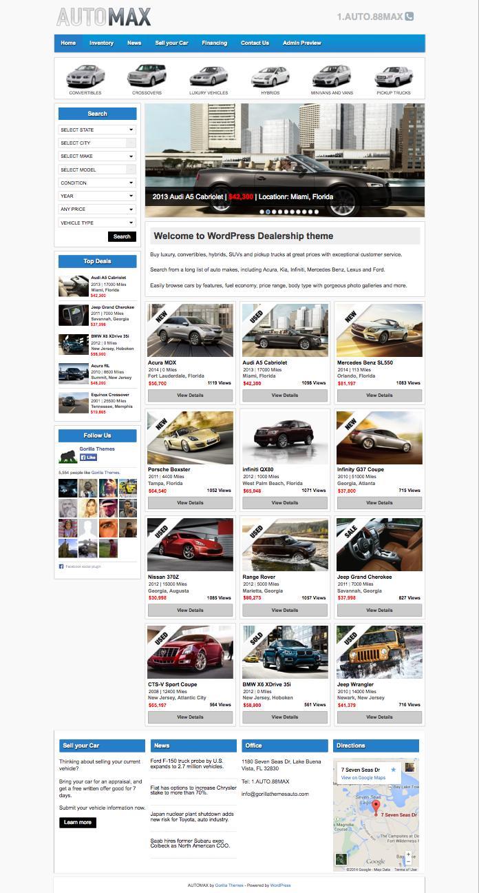 AutoMax WordPress Selling Classified Ads Theme