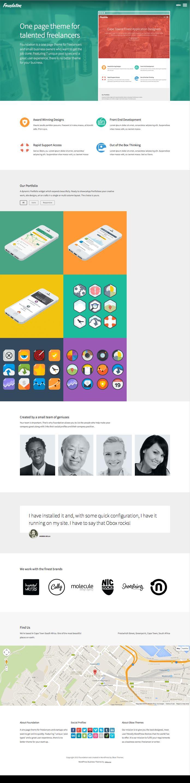 Foundation WordPress One Page Theme