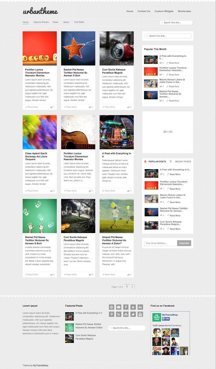 Urban WordPress Grid Style Magazine Theme