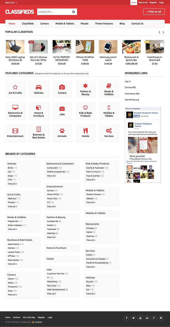Classifieds WordPress Directory Child Theme