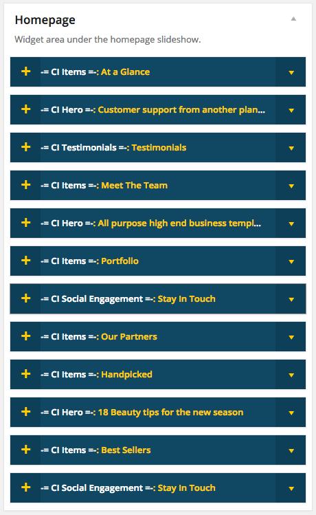 Flevr WordPress Theme - Homepage Widgets