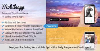 MobileApp WordPress Mobile Application Theme