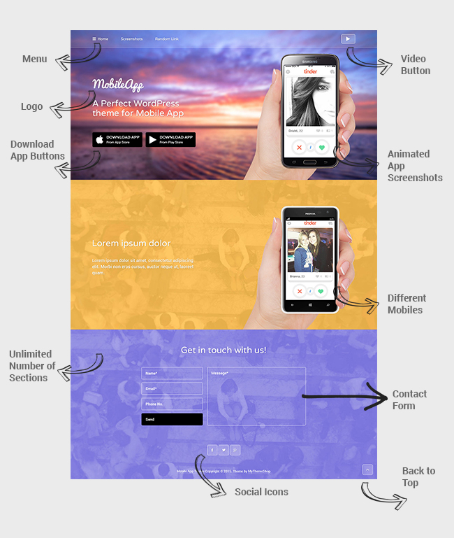 MobileApp WordPress Mobile Application Theme