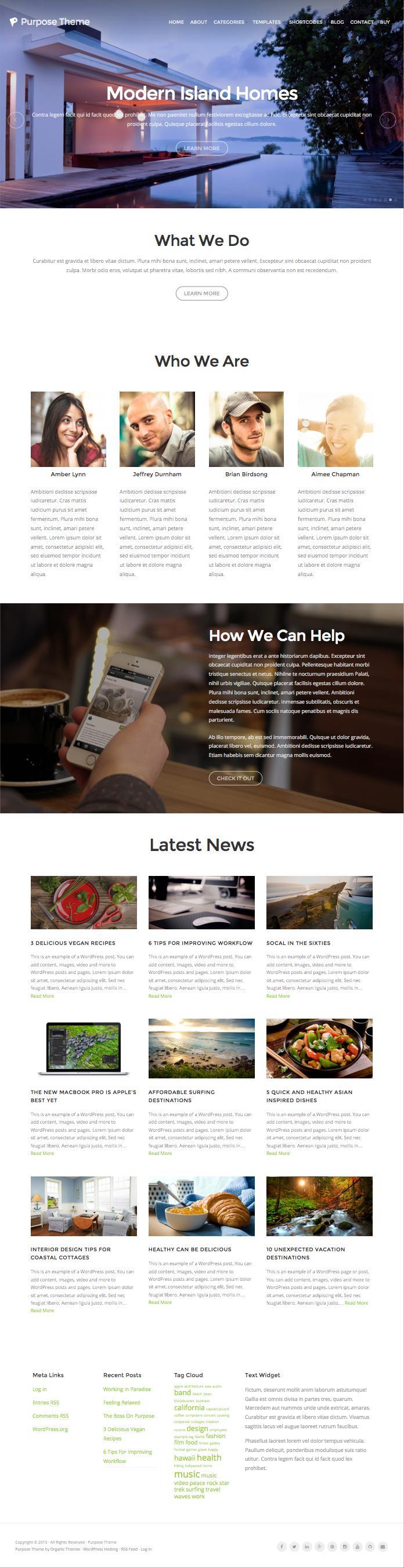 Purpose WordPress Modern Business Theme