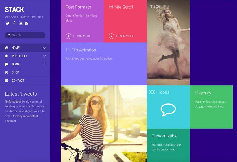 Stack WordPress Windows 8 Metro Design Theme