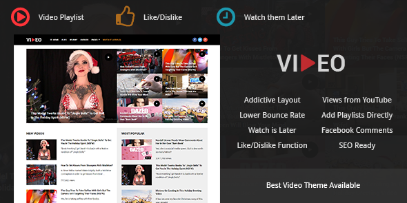 Video Theme for Marketing Media Content & Videos Playlist