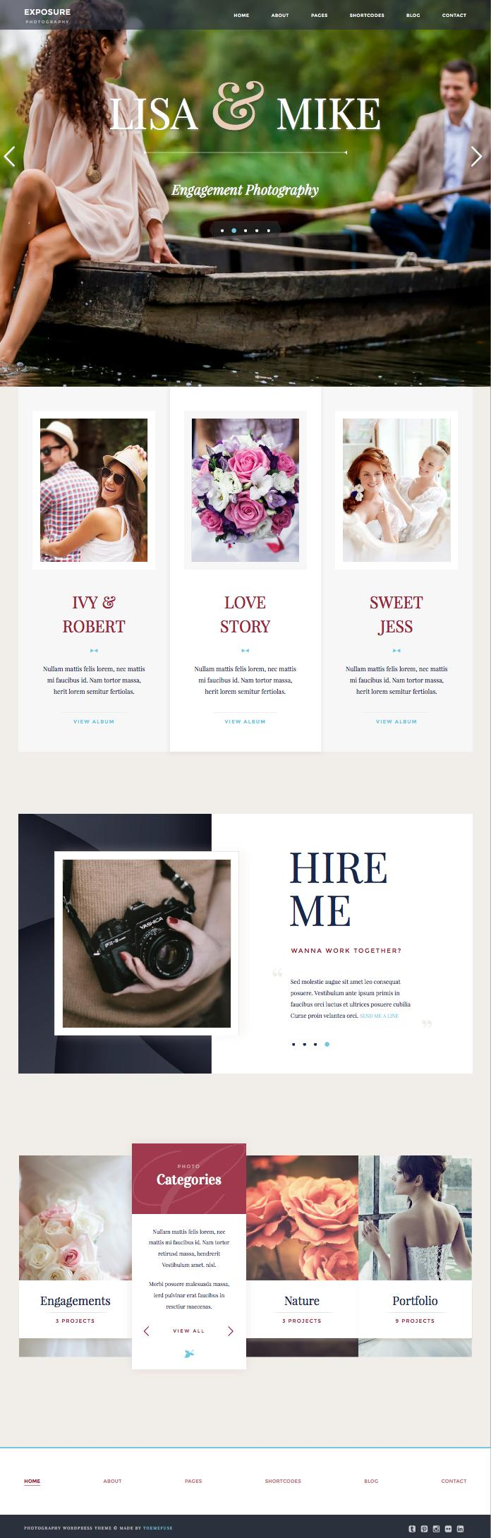 Exposure WordPress Photography Professionals Theme