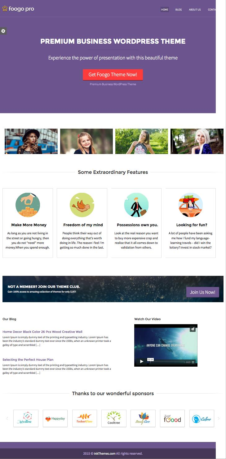 Foogo PRO WordPress Professional Business Theme