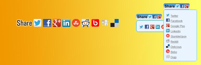 Hupso Share Buttons for Twitter, Facebook Google Plugin
